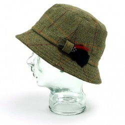 Teflon coated tweed poacher hat